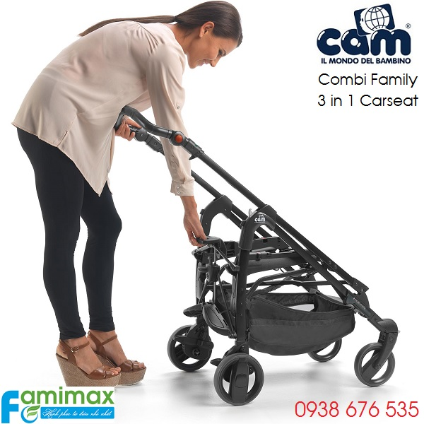 Khung của bộ xe đẩy Combi Family 3 in 1 of Cam Italia