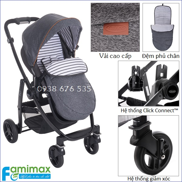 Xe đẩy Graco Evo Trio 3 in 1 Travel System