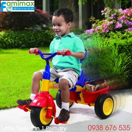 Xe đạp 3 bánh Little Tikes 4 in 1 Primary