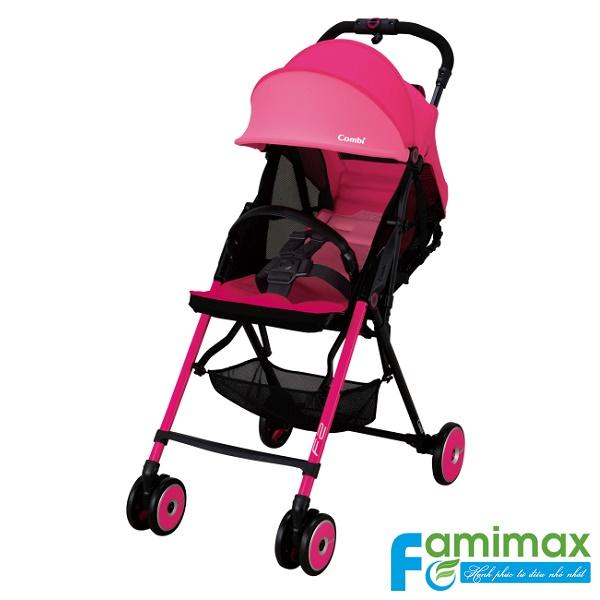 Xe đẩy em bé Combi F2 Plus AD-450 màu hồng