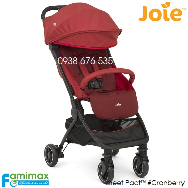 Xe đẩy du lịch gấp gọn Joie Pact Cranberry
